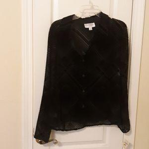 Emanuel Ungaro cut velvet blouse